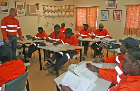 Gold Mining safety - workshop. (Image Courtesy of Newcrest Mining Limited)