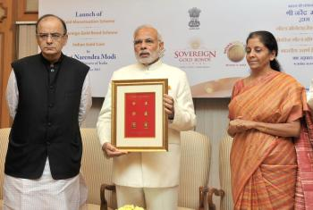 Prime Minister Modi launches Indian Gold Coin